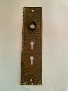 Antique-Aesthetic-Movement-Door-Knob-Faceplate-Double-Keyhole