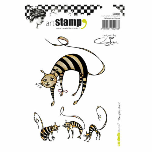 Carabelle Studio SA60367 A6 Stamp Des p/'tits chats by Soizic