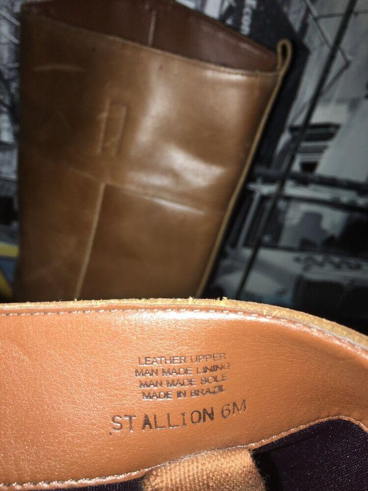Giani Bini Stallion Tan Distressed Distressed Tan Leder Riding Stiefel 6M d87b25