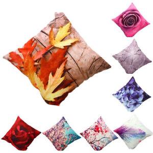 Luxe-Housse-de-Coussin-Fleur-Taie-d-039-oreiller-Textiles-Canape-Siege-Decoration