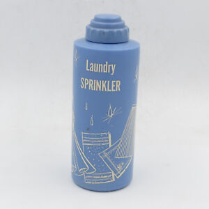 Image Is Loading Laundry Sprinkler Plastic Blue Bottle With Cap