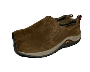Merrell-Mens-Size-14-Era-Moc-Soy-Sauce-Brown-Suede-Slip-On-Shoes-Hiking-Vibram