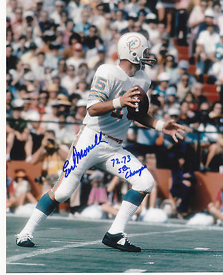 Football Earl Morrall Miami Dolphins 72,73 Sb Champs Action Signed 8x10 College-ncaa