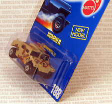 NEW MODEL HUMMER TAN CAMOUFLAGE MILITARY HUMVEE #188 BLUE CARD HOT WHEELS