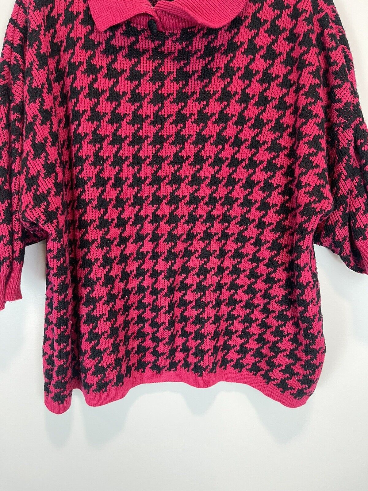 Vintage Stefano World Wide Hot Pink Fuchsia Black… - image 4