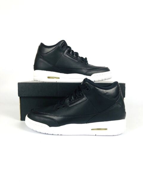 separation shoes 5c8f1 9e923 NIKE AIR JORDAN III 3 RETRO GS SZ 6.5y CYBER MONDAY KIDS BLACK WHITE 398614  020