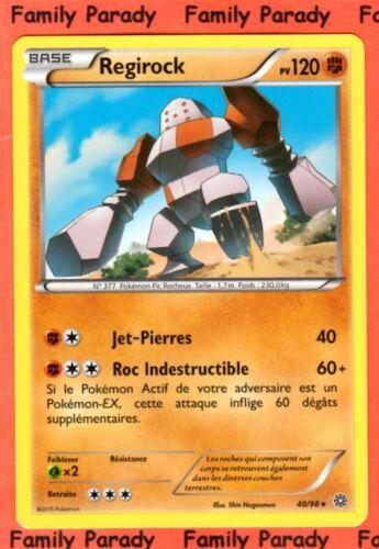 Regirock 120pv 40//98 XY Origines Antiques Carte Pokemon Rare neuve fr