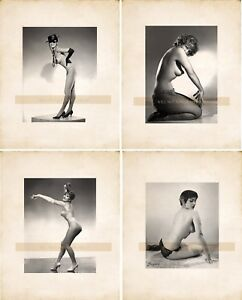 Lot-of-4-Vintage-Burlesque-Nude-Dancers-Models-Vintage-Photo-Reprints-0001