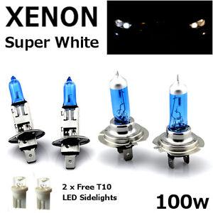 H1-H7-T10-100w-SUPER-WHITE-XENON-Upgrade-Head-light-Bulbs-Set-Dip-Main-Beam-F