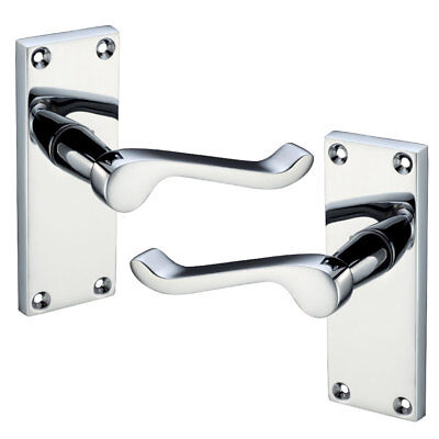 Door Handle Latch Internal Victorian Scroll 1-5 Pair Sets Polished Chrome