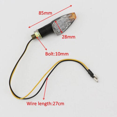 2X LED Turn Signal Lights Indicators Fit Yamaha R1 R6 FZ6 FZ1 FZ FJR WR TT-R