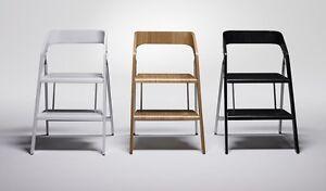 Sedia sgabello scaletta scaleo legno alluminio x casa ufficio