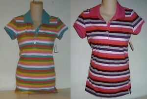 Womens-AEROPOSTALE-Striped-Jersey-Polo-Shirt-NWT-8705-1