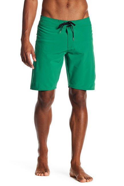NWT Volcom Men's 40 Ex Zess Board Shorts Green Solid Surf Stretch