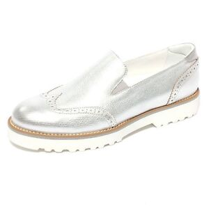 B0677-mocassino-HOGAN-ROUTE-PANTOFOLA-argento-scarpa-shoe-donna-loafer-woman