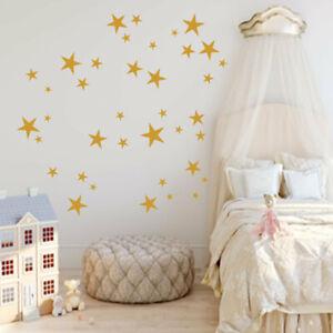 Details zu Wand Tattoo Wand Aufkleber 132 Sterne Kinderzimmer Mädchen  Jungen XXL Set