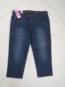 Outback-Ladies-Comfort-Waist-Blue-Capri-3-4-Leg-Stretch-Jeans-Size-Aus-16