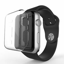 x2 Cystal Clear Slim Thin Hard Snap On Case Cover For Apple Watch Series 1 42MM