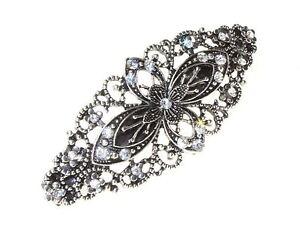 Petal-Filigree-Floral-Barrette-Bridal-Hair-Clip-Slide-Grip