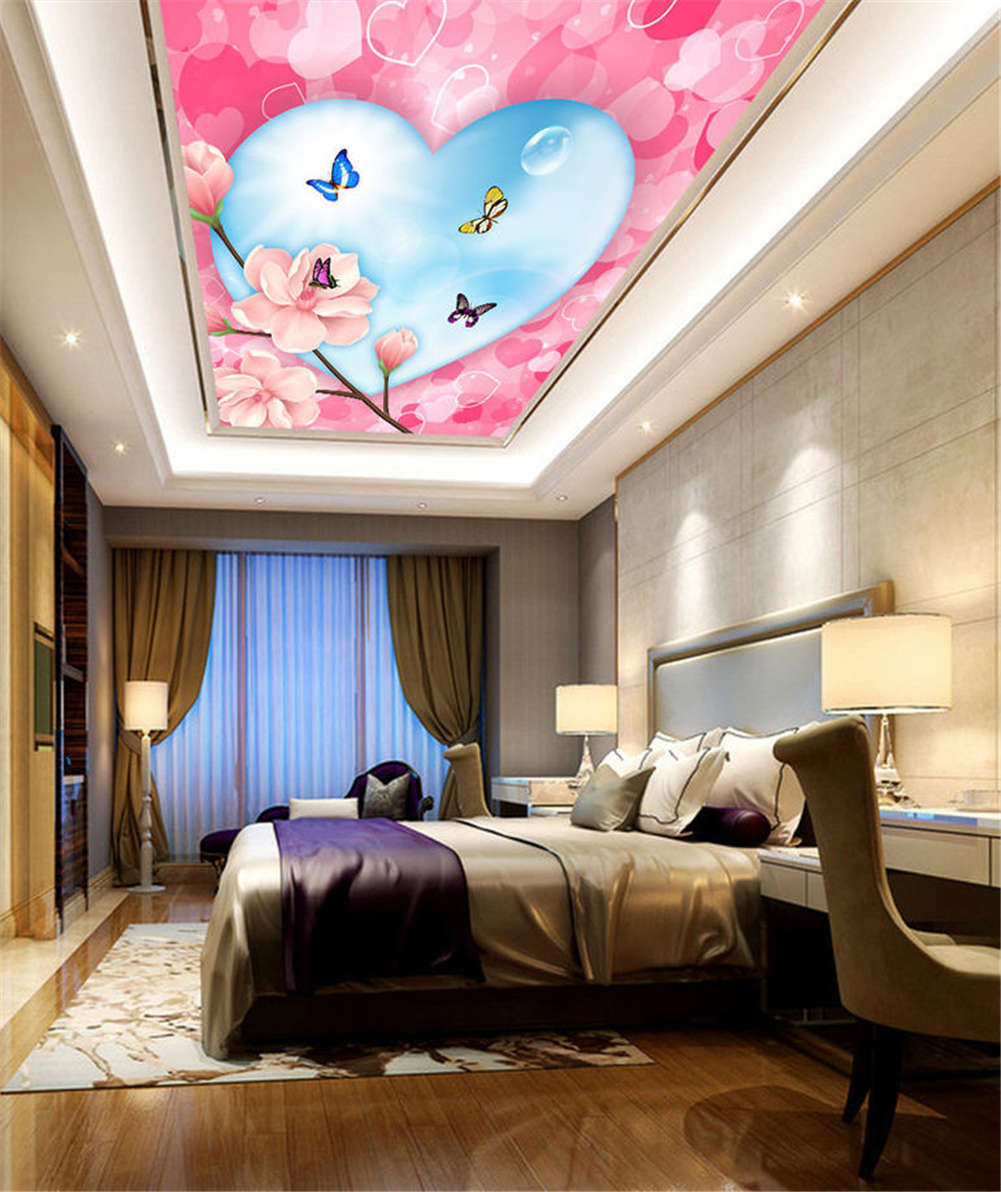 Romantic Divine Bird 3D Ceiling Mural Full Wall Photo Wallpaper Print Home Decor