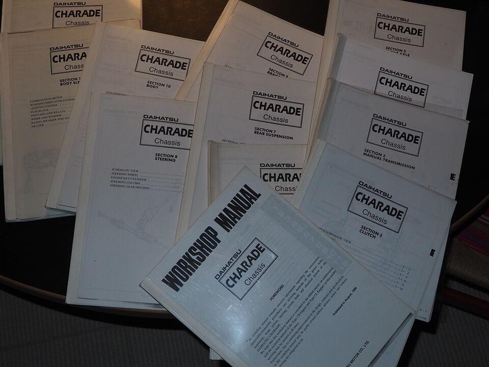 Reparationshåndbog, Daihatsu Charade