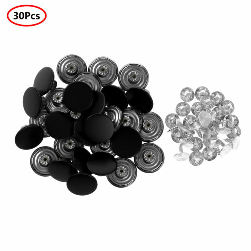 30 Metal Jeans Copper Button Tack Buttons Replacement with Rivet For Sewing Pant