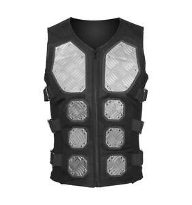 Placa-de-diamante-Metal-Cyber-Blusa-Chaleco-Chaqueta-de-Abrigo-Chaleco-Gotico-Steampunk