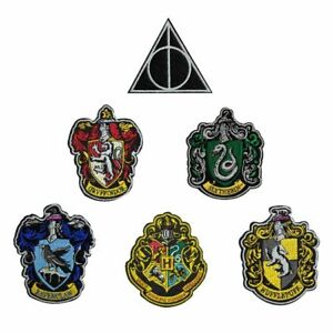 Lot-6-ecussons-brodes-Harry-potter-officiels-Harry-potter-official-patch-pack