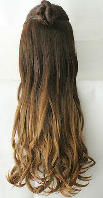 "Thick One Piece Full Head Ombre Clip in Hair Extensions Like Human 17"" 20"" 22"""