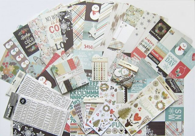 SIMPLE STORIES New 12x12 Paper /& Embellishment Save 65/% SUMMER VIBES Set D