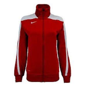 439a36db6e3e Nike Women s Mystifi Warm Up Jacket Zip Up Scarlet Red White 100 ...