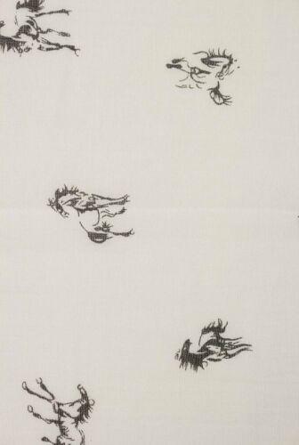 Le donne signore lunghe Cavalli Stampa Motivo Scialle Sciarpa Warp rubato VINTAGE UK Fashion