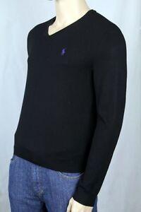 Détails Lauren Sur Laine Pull Violet Nwt Ralph Poney Polo Noir 6fb7gy