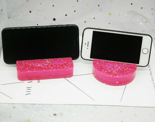 Silicone Mobile Cell Phone Stand Holder Resin Casting Mold Epoxy Mould Craft DIY