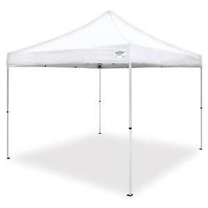 Caravan Canopy M Series Pro 2 10 x 10 Foot Straight Leg Instant Canopy, White