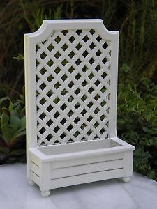 Miniature Dollhouse Fairy Garden Accessories White Wood