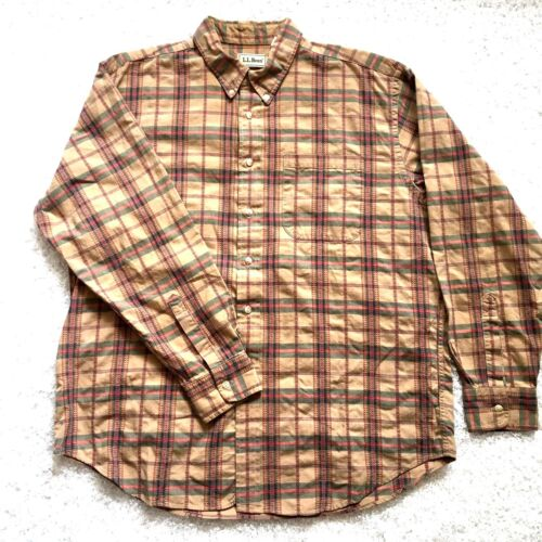 Southwest Shirt Usa Xl omlaag Vintage Azteekse mouw Ll knop Made Bean geruite lange Uq7wH7Z8