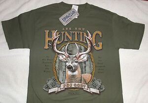ARE-YOU-HUNTING-Short-Sleeve-T-SHIRT-SMALL-CHRISTIAN-KERUSSO-APPAREL