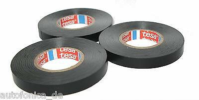 3x TESA Isolierband 4252 kfz 15mm x 10m Klebeband Iso Tape Isoband Band
