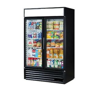 DRUSA-MD41R-41-CU-Commercial-Glass-Swing-2-Door-Merchandiser-Refrigerator