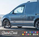 Volkswagen Caddy Logo Side & Bonnet Stripes Stickers Decals VW SWB LWB Graphics