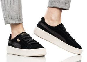 Puma Suede Platform Mono Satin W shoes black