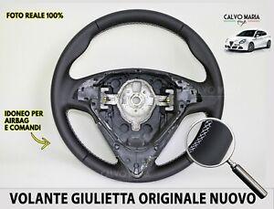 Volante Giulietta Originale Alfa Romeo Sterzo Manubrio Nuovo Pelle Nero Kit per