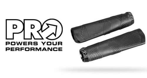 PRO Ergonomic LockOn Bike Handlebar Grips MTB Locking Ergo Grip BLACK PRGP0034