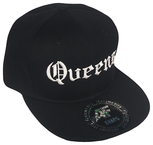93b774c15 Details about Queens New York NY Old English Snapback Black & White  Baseball Cap Caps Hat Hats