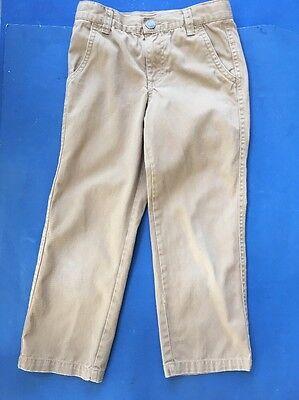 'greend 9' Size 5 Khaki Pants/uniform W/adjustable Waist Euc!