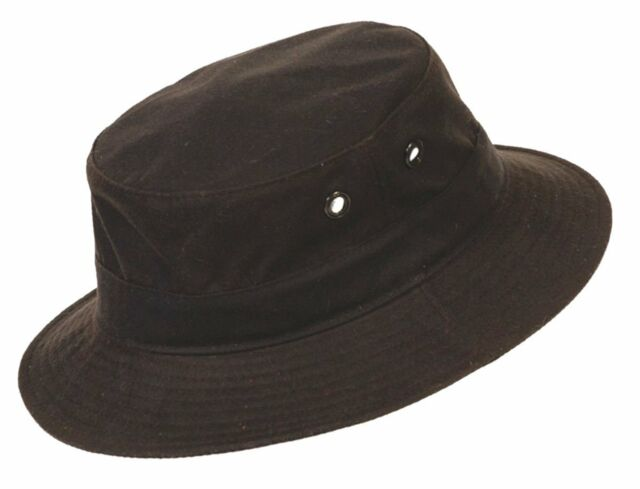 5552af1fd5e91b Conner Hats Brown Oiled Cotton Bucket Hat Y1017 S for sale online | eBay