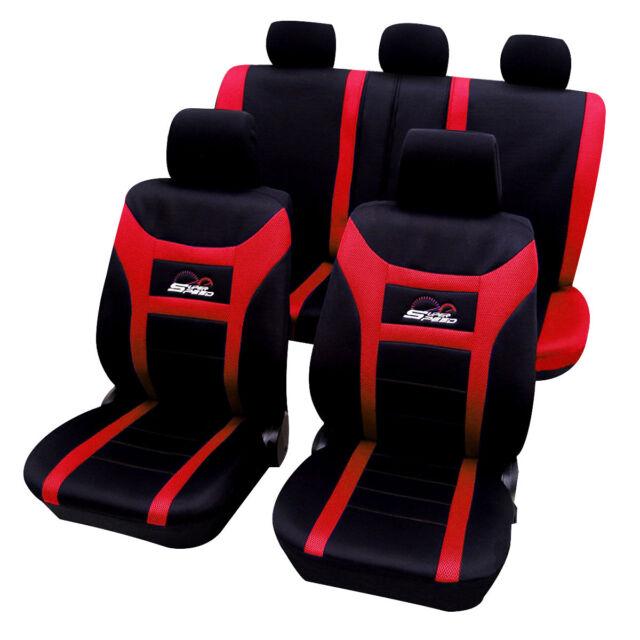 Autositzbezug Schonbezug Sitzschutz Set für PKW ohne Seitenairbag Rot AS7259