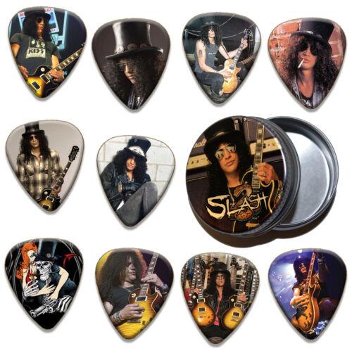 Slash 10 X Plectrums /& Tin Guitar Picks Limited To 100