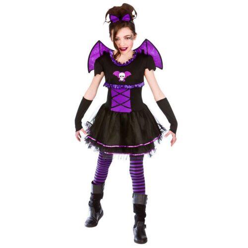 GIRLS BATTY BALLERINA  HALLOWEEN FANCY DRESS COSTUME